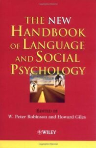 handbook language social psychology