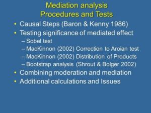6. Mediation Analysis: Procedures and Tests
