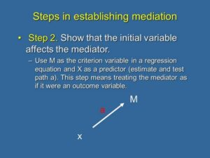 8. Causal Steps to Establish Mediation: Step 2