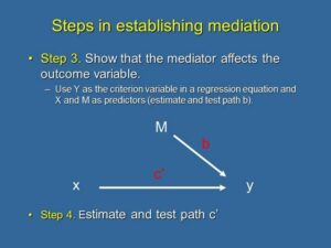 9. Causal Steps to Establish Mediation: Steps 3 and 4