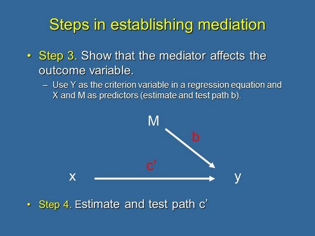 Causal Steps 3 and 4 in a mediation analysis