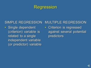 2. A Quick Review of Regression