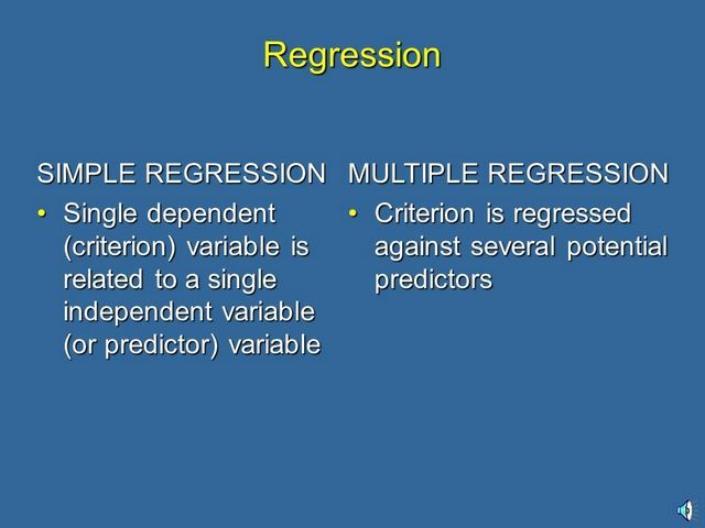 Simple and multiple regression defined